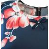 Стилна блуза от ликра на коралови цветя