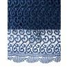 Официална рокля от релефна дантела в тъмно синьо