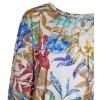 Блуза балон с принт на пъстри листа