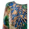 Блуза балон в тропически цветове